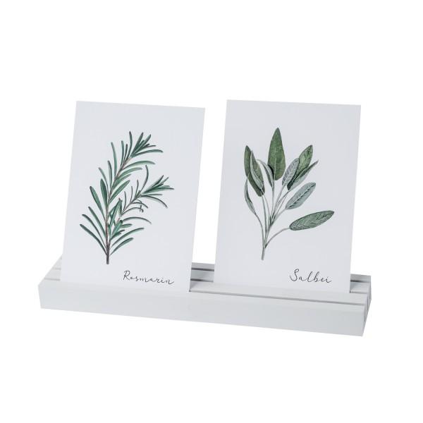 Eulenschnitt - Foto - und Postkartenhalter in weiß 25cm