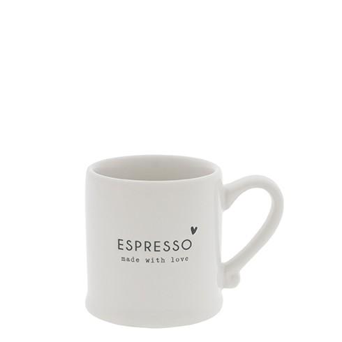 """Bastion Collections - Espressotasse """"ESPRESSO - made with love"""" - weiß/schwarz"""