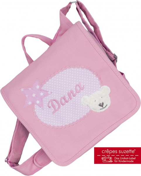 "crepes suzette - Kindergartentasche ""Bär"" rosa"