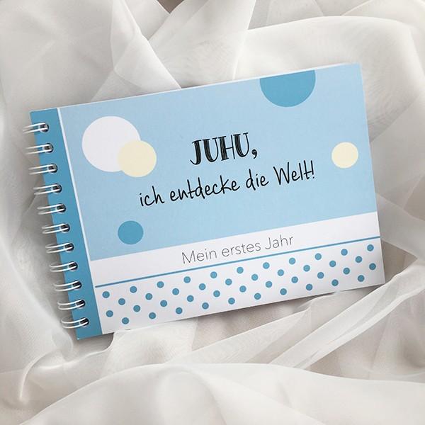 """Mintkind - Erinnerungsbuch """"Erstes Jahr"""" blau"""