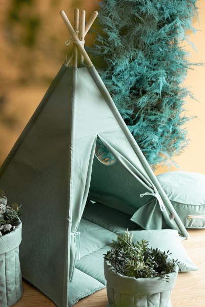 WigiWama - Tipi Set Plain-Collection - Olive Green