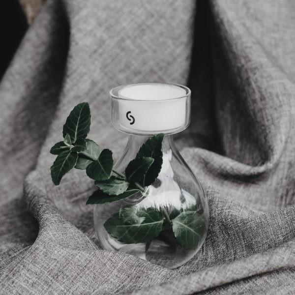 "Storefactory - Teelichhalter & Vase Glas ""Enebacken"""