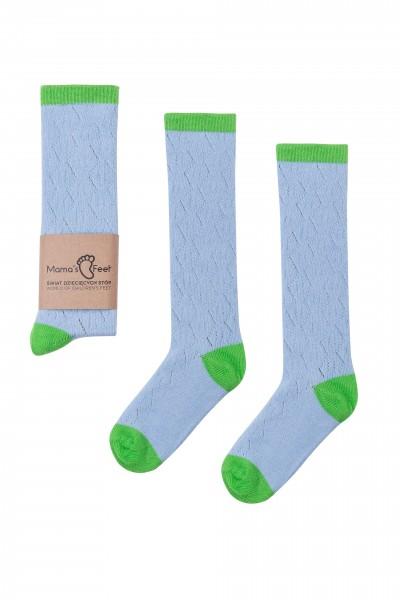 """Mama's Feet - Kniestrümpfe """"Funky"""" - blau-grün"""