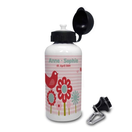 Trinkflasche Vogel Piep rosa
