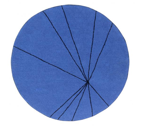 Lorena Canals - Teppich Trace rund Blau