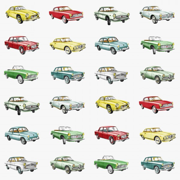 Tapete American Cars Bunt