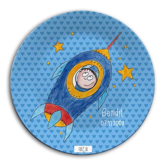 """Teller """"Astronaut"""" - verschiedene Größen, personalisierbar"""