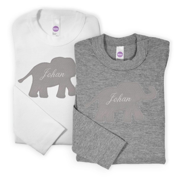 Namensshirt Elefant Grau versch. Farben