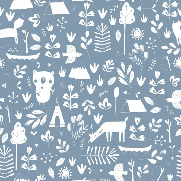 kinderzimmertapete adventure blue meine kleine liebe. Black Bedroom Furniture Sets. Home Design Ideas