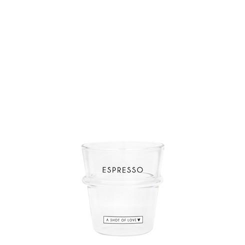 """Bastion Collections - Espresso Glas """"ESPRESSO - a shot of love"""""""