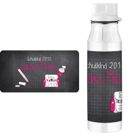 Edelstahlflasche Alfi Tafel Pink