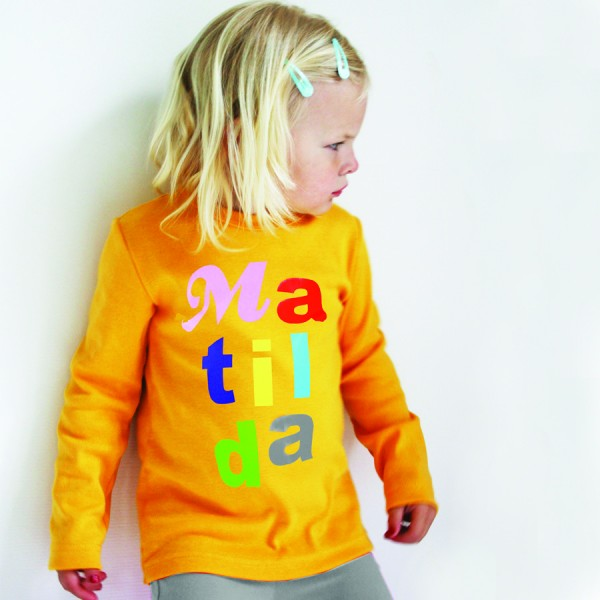"Namensshirt ""Letters"" in vielen Farben"