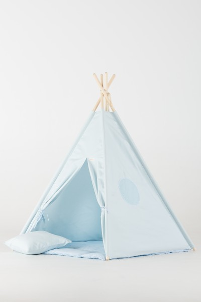 WigiWama - Tipi Set Plain-Collection - Blau