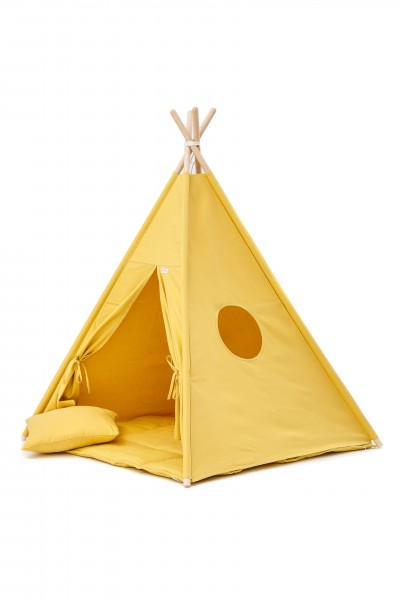 WigiWama - Tipi Set Plain-Collection - Gelb