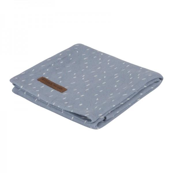 "Little Dutch - Swaddle Tuch ""Sprinkles Blue"" 120 x 120 cm"