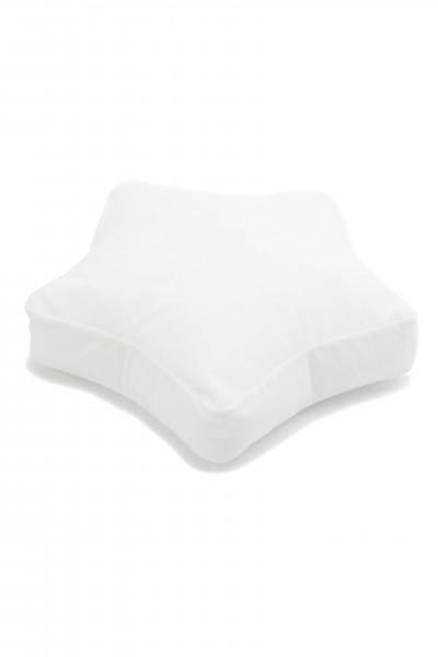 WigiWama - Sitzkissen Stern Velvet Collection - Weiß