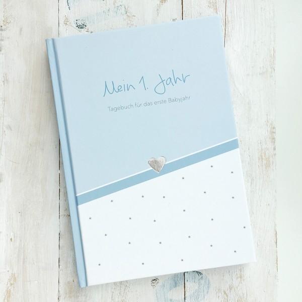 """Mintkind - Tagebuch """"Mein erstes Jahr"""" blau"""