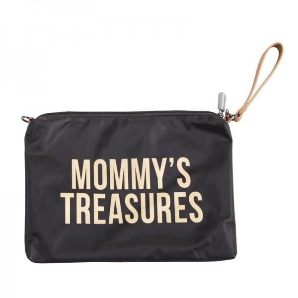 "Childhome - Clutch ""Mommy's Treasures"" - schwarz/gold"