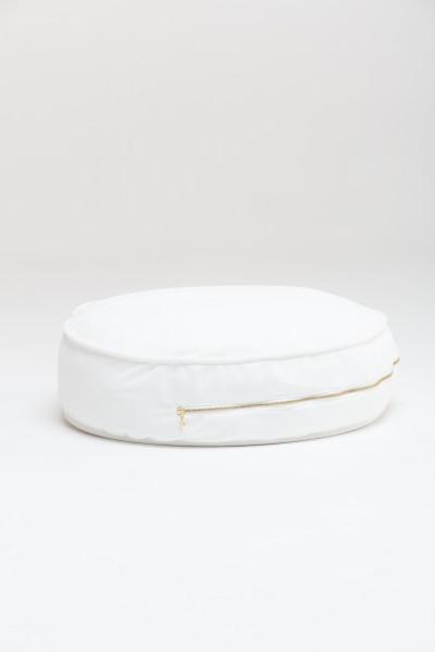 WigiWama - Sitzkissen rund Velvet Collection - Weiß