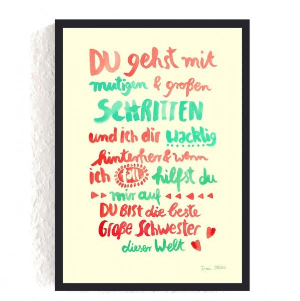 """Poster A4 """"Große Schwester"""""""