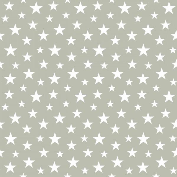 Tapete Sterne klein / Grau