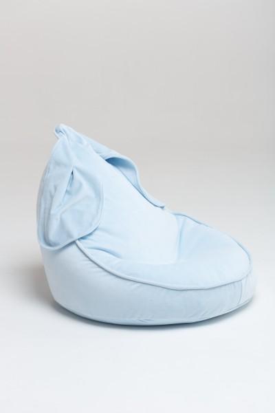"WigiWama - Sitzsack ""Bunny"" - Velvet Collection - Baby Blau"
