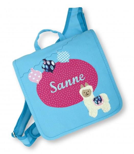 """crepes suzette - Kindergartentasche """"Sanne"""" mittelblau"""