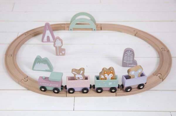 Little Dutch - Holzeisenbahn - Adventure Pink