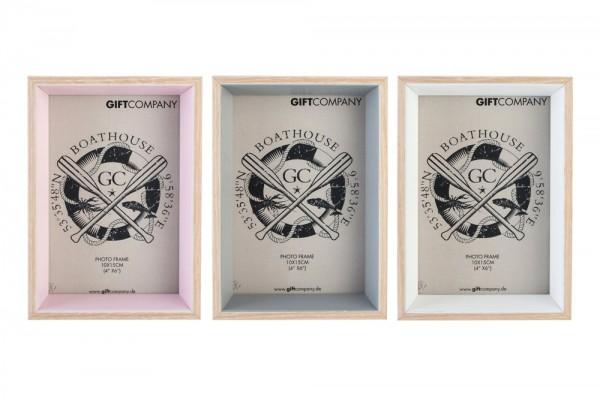 Gift Company - Bilderrahmen Holz in drei Farben klein