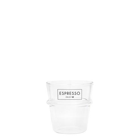 "Bastion Collections - Espresso Glas ""ESPRESSO Enjoy"""