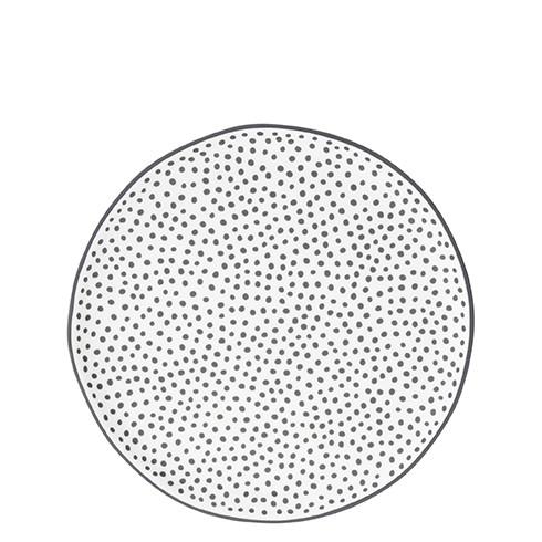 """Bastion Collections - Teller """"little Dots"""" 19 cm - weiß/schwarz"""