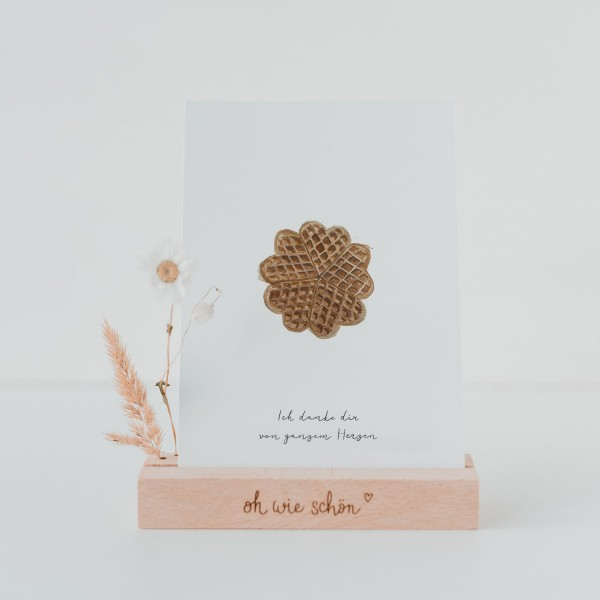 "Eulenschnitt - Postkarte ""Herzwaffel"""