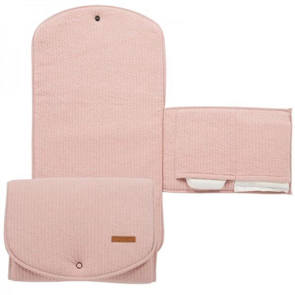 """Little Dutch - Wickelunterlage Komfort """"Pure Pink"""" 70 x 36 cm"""