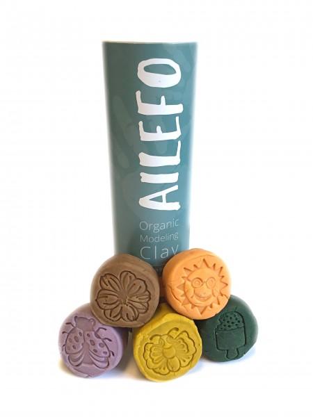 "Ailefo - organische Knete - 5x100g - ""Forest colors"""