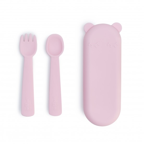 """We Might Be Tiny - Besteck-Set """"Feedie Fork & Spoon"""" powder pink"""