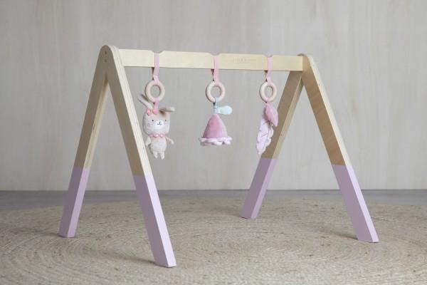 """Little Dutch - Holz Babygym - Spieltrapez """"pink"""""""