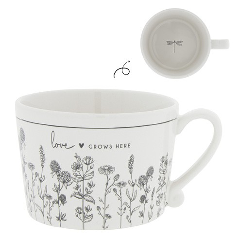 """Bastion Collections - Tasse """"love GROWS HERE"""""""