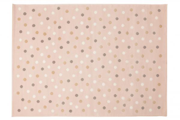 Kinderzimmer Teppich Rose Punkte | Meine kleine Liebe