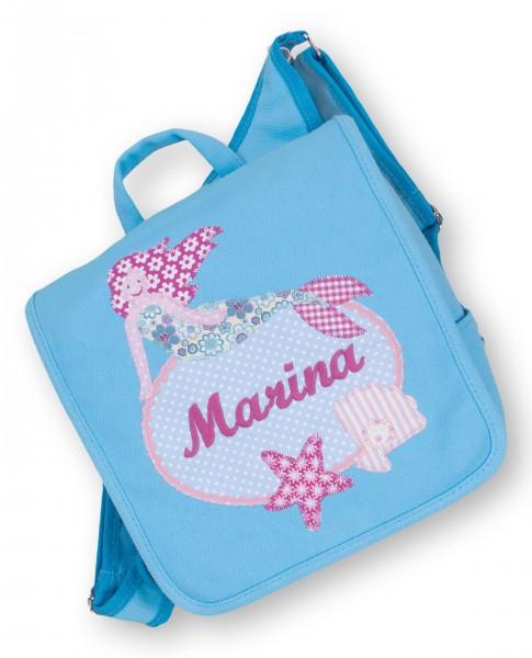 "crepes suzette - Kindergartentasche ""Meerjungfrau"" hellblau"