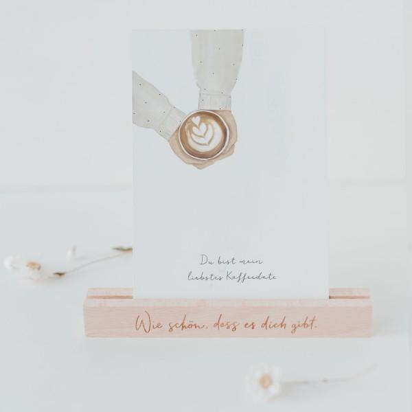 """Eulenschnitt - Postkarte """"Kaffeedate"""""""