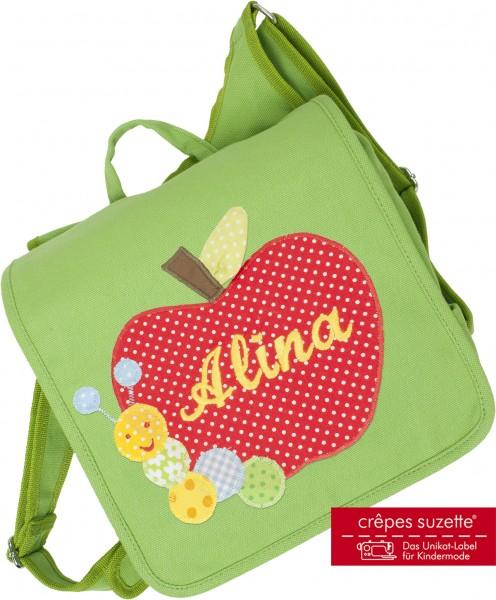 """crepes suzette - Kindergartentasche """"Apfel"""" grün"""
