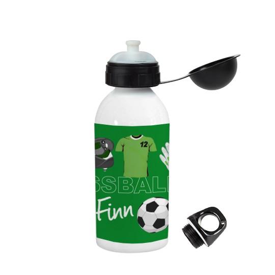 """Trinkflasche """"Fussball"""" in verschiedene Farben, personalisierbar"""