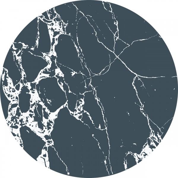 """everleigh & me - Splat Mat / Bodenschutzmatte """"Dark Mable - Dunkler Marmor"""""""