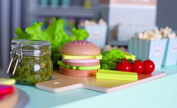 JaBaDaBaDo - Hamburger-Set aus Holz