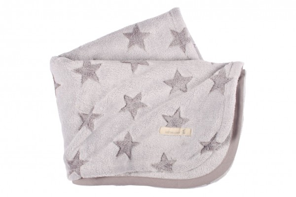 Kuscheldecke Sterne Grau