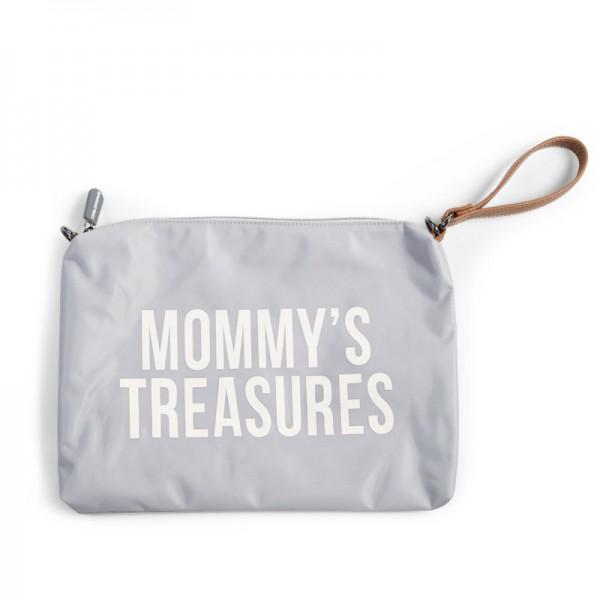 "Childhome - Clutch ""Mommy's Treasures"" - grau/altweiss"