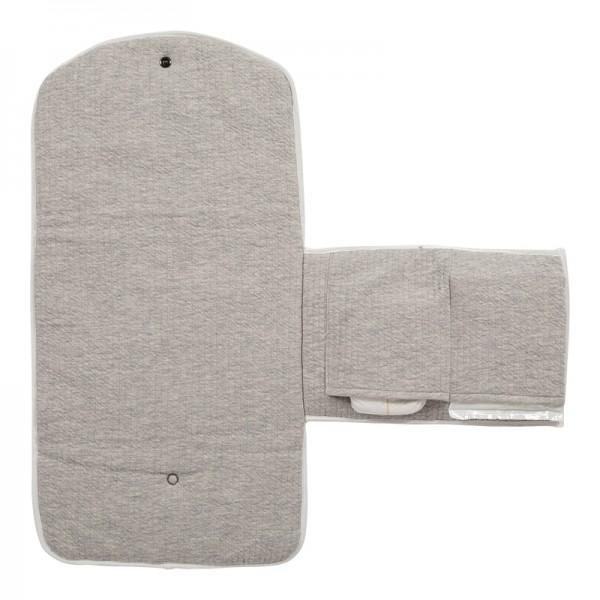 "Little Dutch - Wickelunterlage Komfort ""Pure Grey"" 70 x 36 cm"