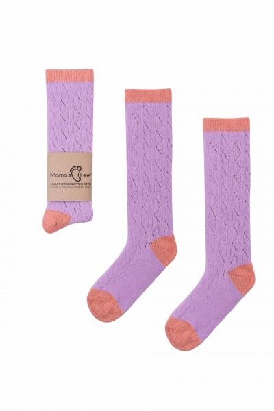 "Mama's Feet - Kniestrümpfe ""Funky"" - purple-orange"