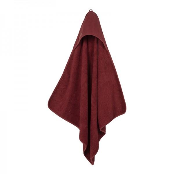 """Little Dutch - Kapuzenhandtuch """"Pure Indian Red"""" 75 x 75 cm"""