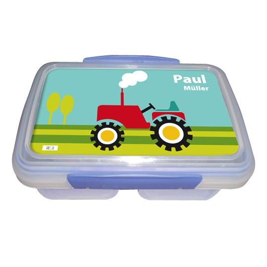 """Frühstücksdose / Brotdose """"Traktor"""" - personalisierbar"""